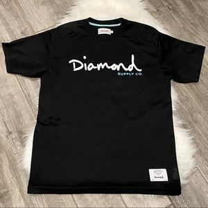 Diamond Supply Co. Black Logo Tee Size Large